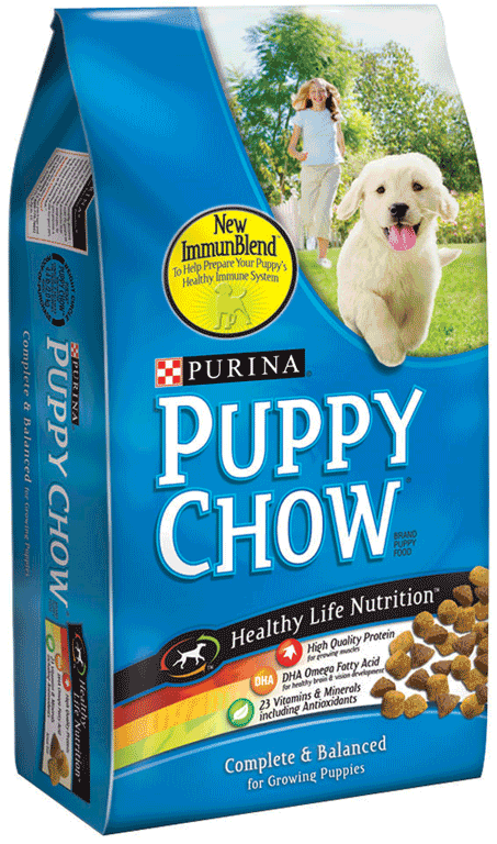 Purina Dog Chow or Puppy Chow, 16.5 lb: $10.99, Regular Price