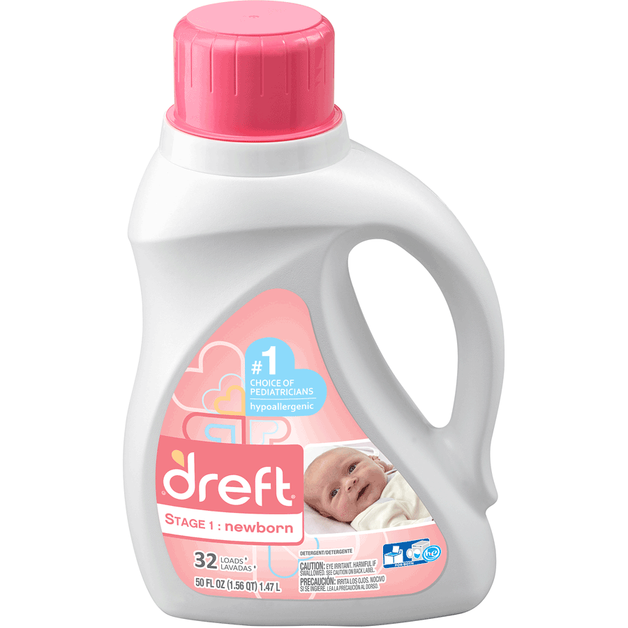 Dreft Stage 1: Newborn Detergent is specially made for newborn babies' delicate skin. That's why it's the #1 Choice of Pediatricians and has been trusted by moms for over 80 years. So swaddle your newborn in fabric washed with Dreft's hypoallergenic formula, designed .